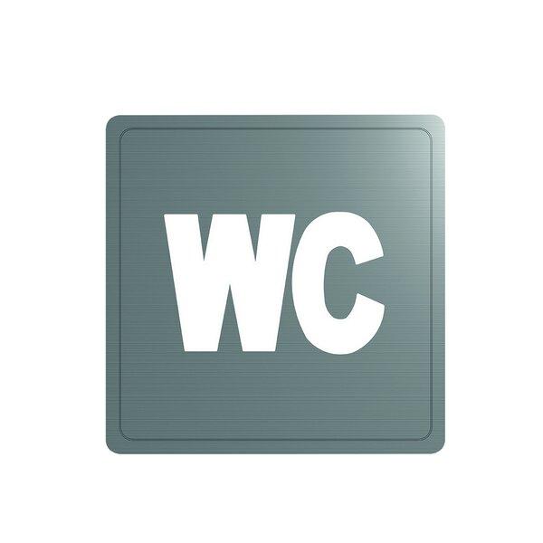 Wand Symbol WC Edst. 1.4301 satiniert (ex-0011420000)