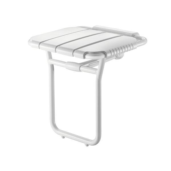 Duschsitz Alu hochklappbar mit Fuß,breites Modell