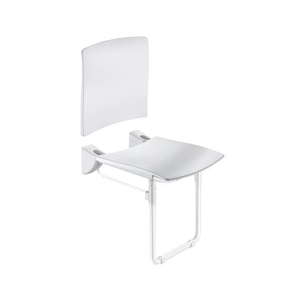 DU-Sitz Komfort klappbar,R-Lehne,Fuß,Edst. pulverbesch. weiß