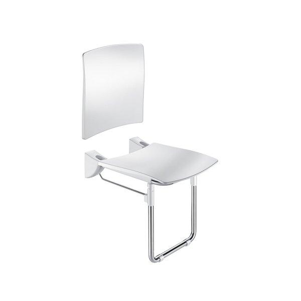 DU-Sitz Komfort hochklappbar m.R-Lehne u.Fuß Edst. seidengl.