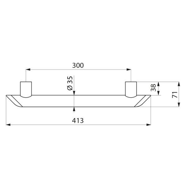 Haltegriff Be-Line  D35 L.300 Aluminium weiß