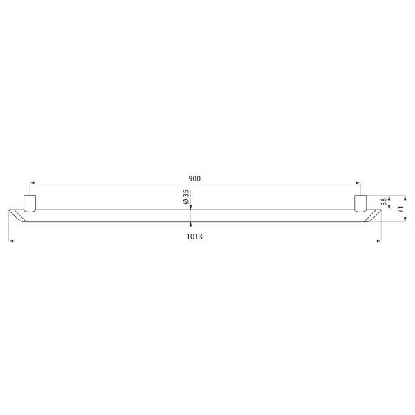 Haltegriff Be-Line  D35 L.900 Aluminium weiß