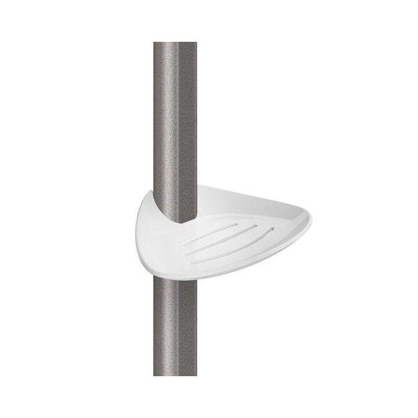 Seifenablage verschiebbar Be-Line weiß f. Stange D35