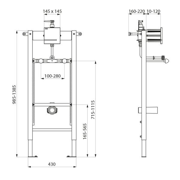 TEMPOFIX3 Inst.Sys.Urinal elektr.Netzbetr.230/6V Ø35 Set 1/2