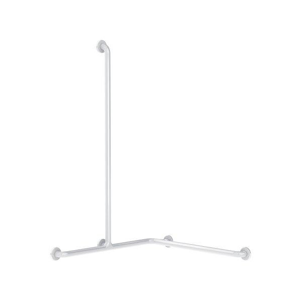 Duschhandlauf mit Br.H.Stg. vertikal für DuschsSitz D32 mm Nylon weiß