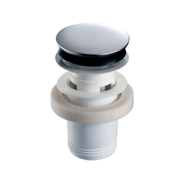 Abl.Ventil für Waschtisch Klickverschlusshaube, G11/4, Einlaufstutzen Edelstahl