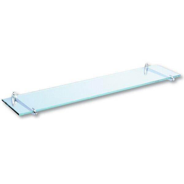 Glasablage Wandmontage 120 x 600 mm Kanten geschliffen