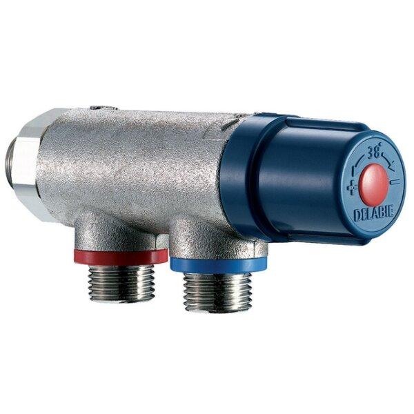 Thermostat-Mischbatterie PREMIX COMPACT G1/2B Ausführung unverchromt