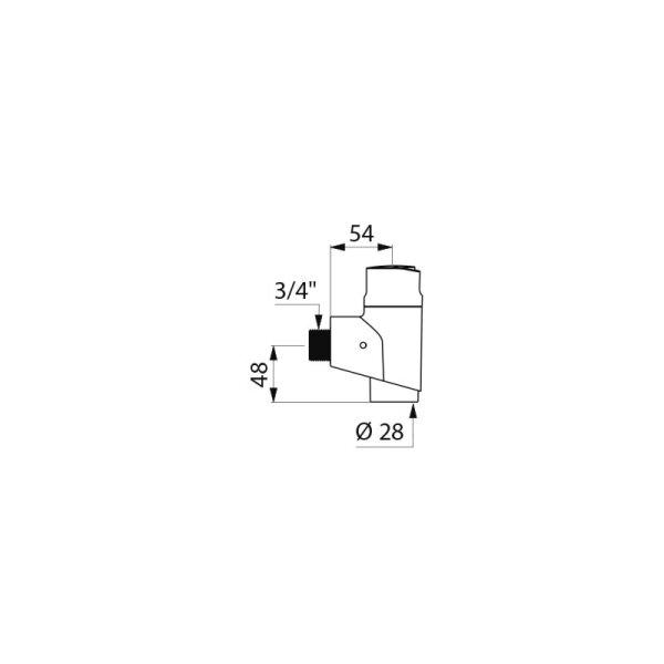 DrSp. TEMPOFLUX 3 WC AB G3/4B D28mm Aufputz 7 Sekunden,mit Vorabsp.