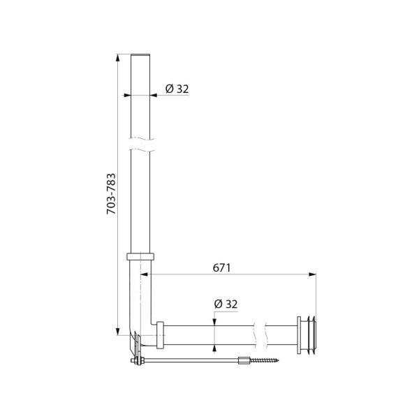 Spülr.geb. PVC f. Unterputz/Hinterw.-Mont. m.Spülr.Verb. D32/55mm