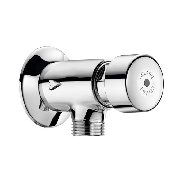 Urinal-Spülarmatur TEMPOSTOP G1/2B Aufputz Eckversion. 7 Sekunden,m. Ros.