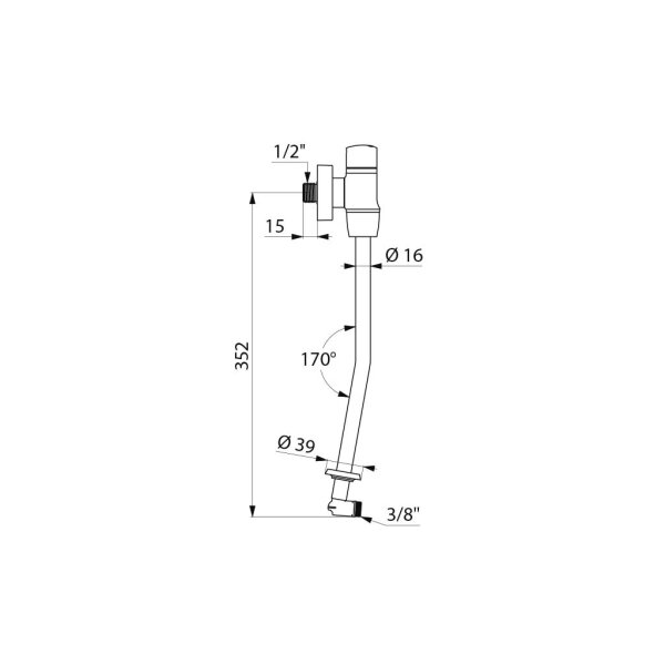 Urinalspüler-Set TEMPOFLUX G1/2B, ~3 Sekunden für Urinal FINO