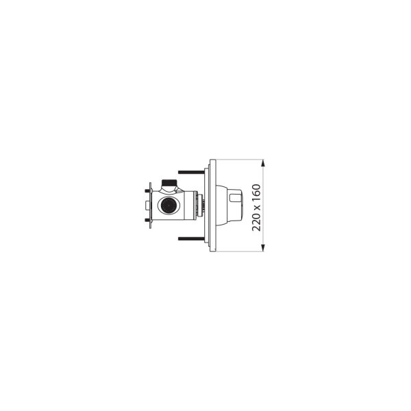 DU-Selbstschl.MBatt.TEMPOMIX Unterputz dicht Set 2/2 (f.790BOX)