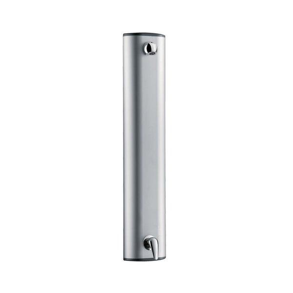 Duschelement Aluminium mit Einhebelmischer, Anschluss oben, Brausekopf 6 l/min
