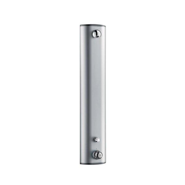 Duschelement SECURITHERM mit Thermostat, Aluminium, Anschluss oben, 30 Sekunden, Seifenablage