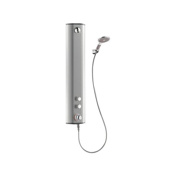 Duschelement SECURITHERM Thermostat, Aluminium, Anschluss oben, Handbrause, Halterung