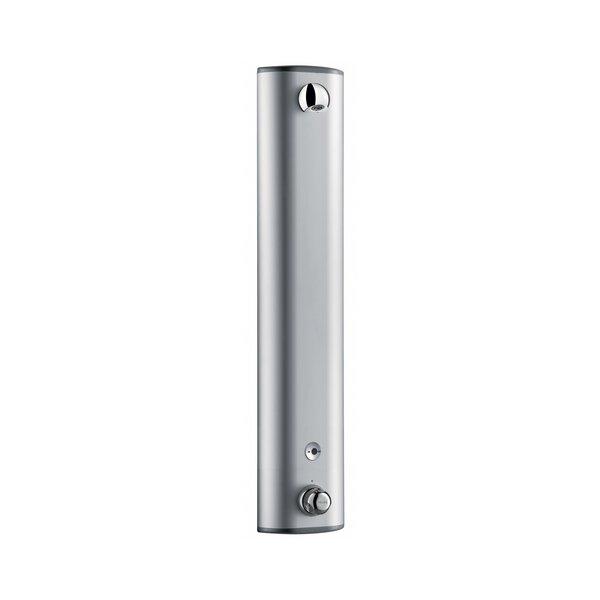 Duschelement SECURITHERM mit Thermostat 6V Batterie, Aluminium, Anschluss oben