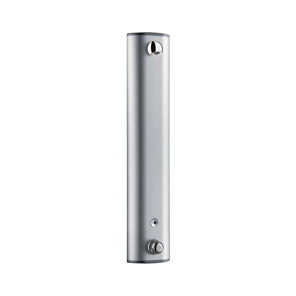 Duschelement SECURITHERM mit Thermostat 6V Batterie, Aluminium, Anschluss verdeckt