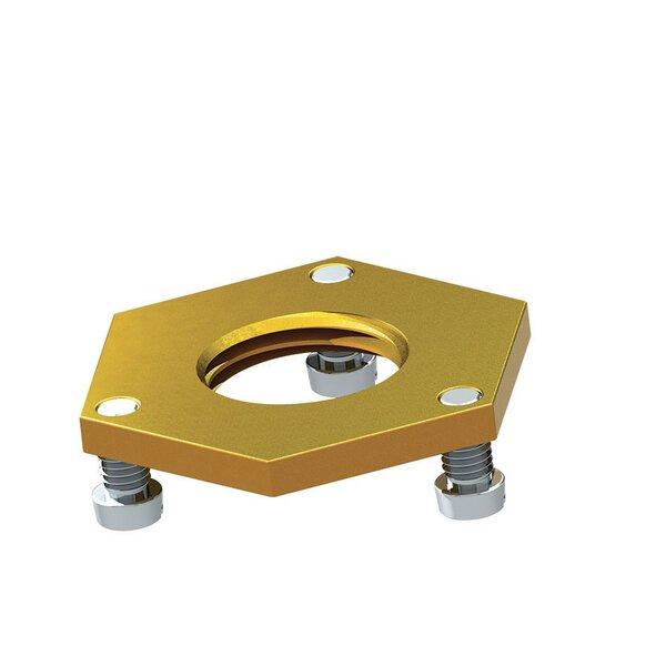 Kontermutter G1/2, Höhe 4 mm mit 3 Schrauben und Unterlegscheibe