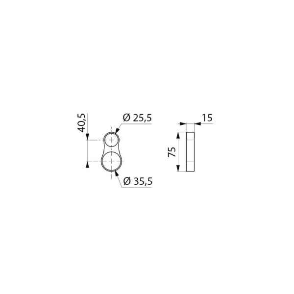 Fallsicherung f. Handbrause passend f. Stangen D25 bis 35 mm