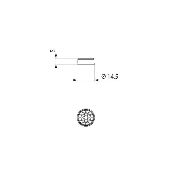 Strahlregler D13mm aus Hostaform®