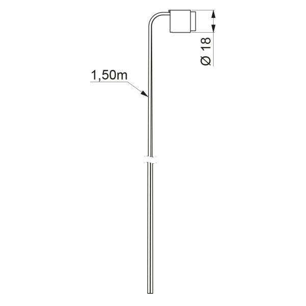 Sensor f. BINOPTIC u. TEMPOMATIC 2 mit Kabel L 1,5m