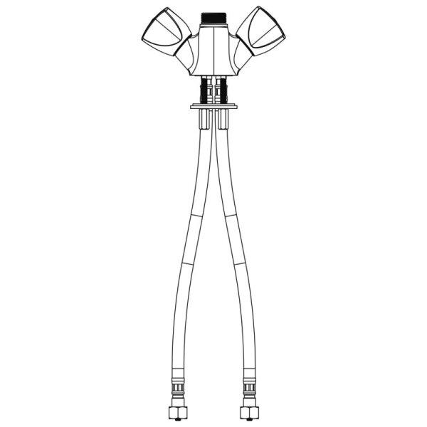 Zweigriffmischbatterie 1-Lochbrg. G3/8 f. Geschirrspülmisch.