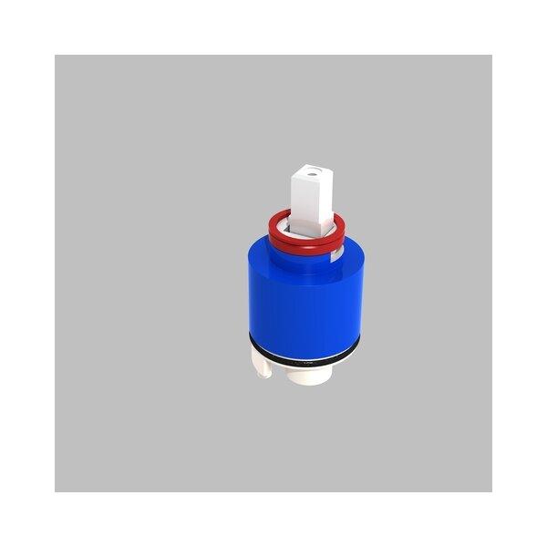 Keramikkartusche D40mm mit Sockel und Durchflussbegrenzer