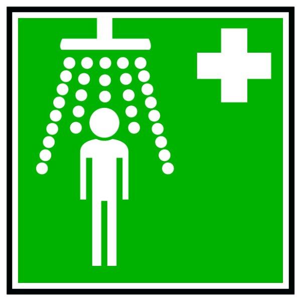 Hinweisschild Sicherheits-Körperdusche