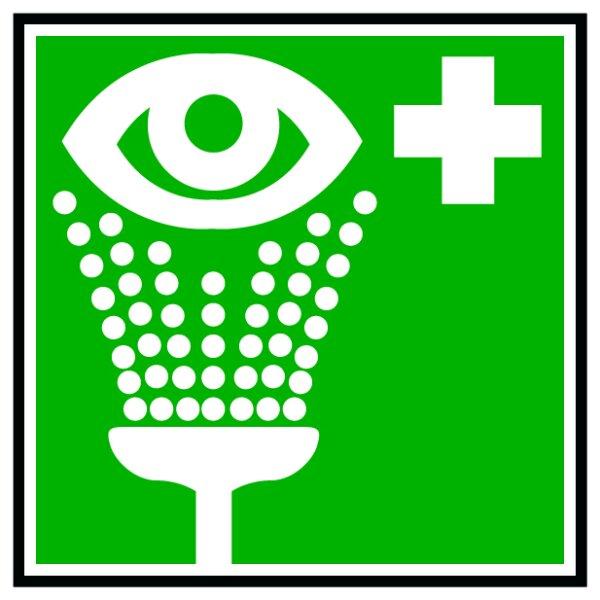 Hinweisschild Sicherheits-Augendusche