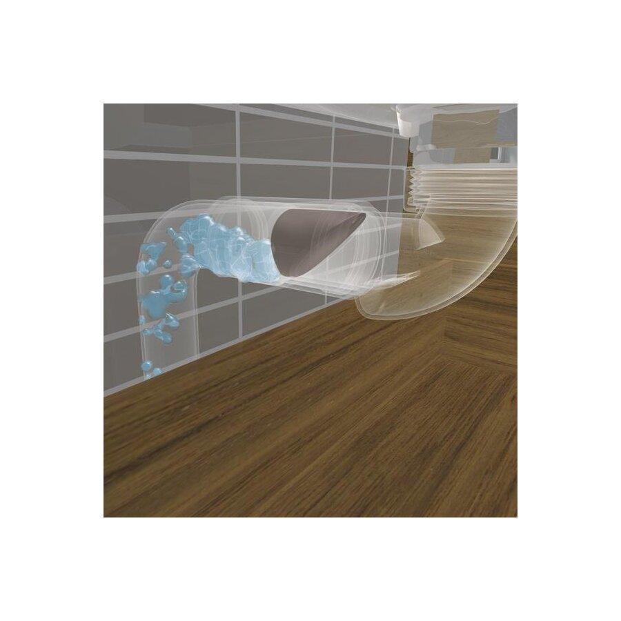 Ablaufgarnitur mit Geruchsverschluss Raumsparsiphon Wandrosette DN 40