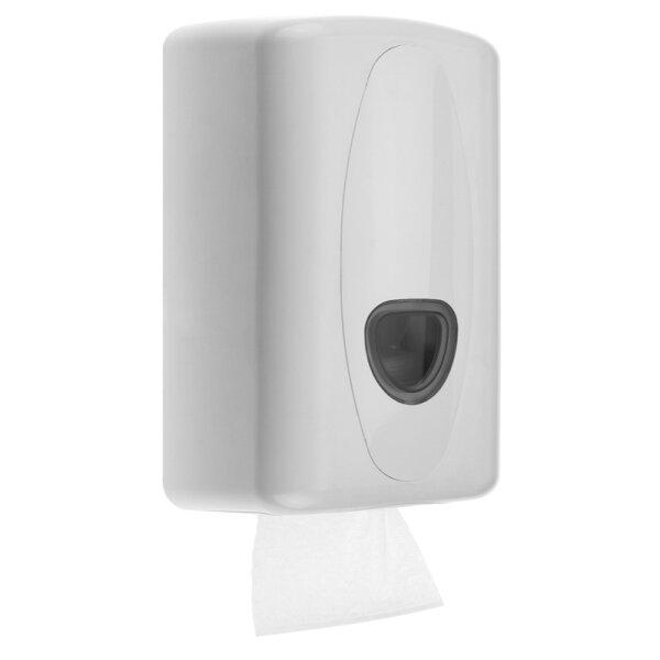 Toilettenpapierspender Einzelblatt Kunststoff weiß