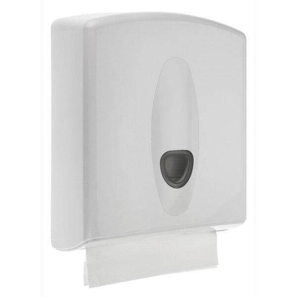 Handtuchspender Kunststoff midi weiß