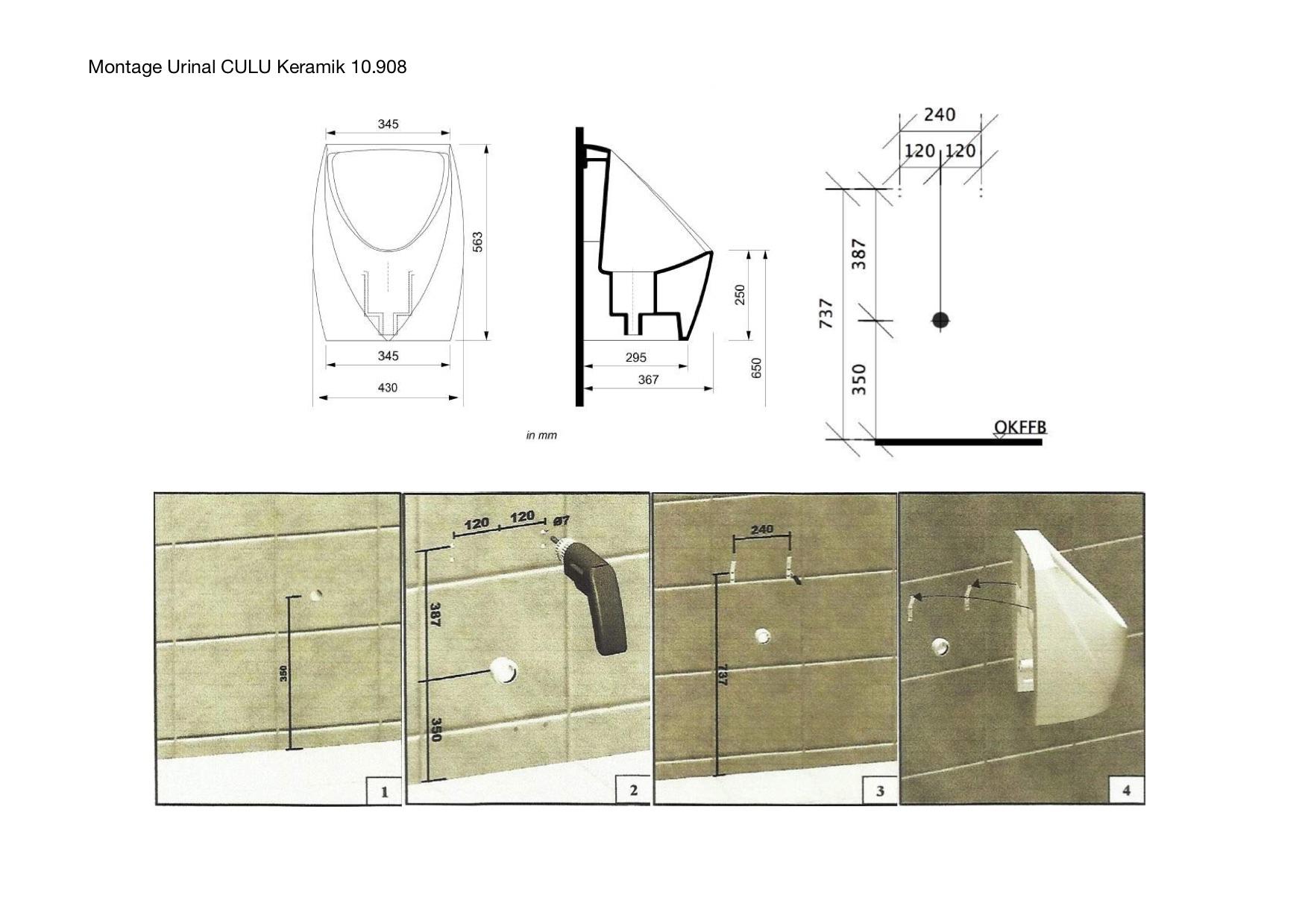 Montageanleitung CULU Urinal 10908